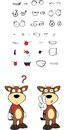 Bull cartoon expressions set in vector format very easy to edit Stock Photography