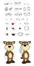 Bull cartoon expressions set in vector format very easy to edit Stock Photos