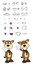 Bull cartoon expressions set in vector format very easy to edit Royalty Free Stock Photo