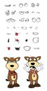 Bull cartoon expressions set in vector format very easy to edit Stock Photo
