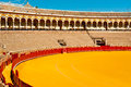 Bull fight arena of bullfighting in seville Royalty Free Stock Images
