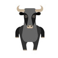 Bull illustration of on white background Royalty Free Stock Image