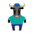 Bull illustration of a on a white background Royalty Free Stock Photography