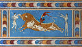 Bull-leaping fresco, Knossos palace, Crete, Greece Royalty Free Stock Photo