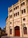 Bull ring in murcia spain main entrance to the plaza de toros Stock Images