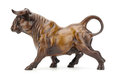 stock image of  Bull sculpture isolated on white background clipping path