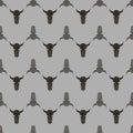 Bull Skull Silhouette Seamless Pattern