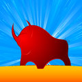 Bull strong finance the as a symbol of and eps Royalty Free Stock Photo