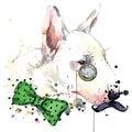 Bull Terrier Dog T-shirt Graph...
