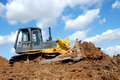 Bulldozer in action Royalty Free Stock Images