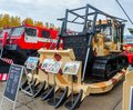 Bulldozer b m of chelyabinsk tractor plant russia nizhniy tagil september on exhibition range arms expo exhibition Stock Photography