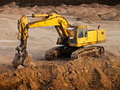 Bulldozer on a break Royalty Free Stock Photo