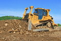 The bulldozer on a building site Royalty Free Stock Image