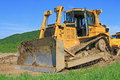 The bulldozer on a building site Stock Image