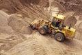Bulldozer on a construction site Stock Photos