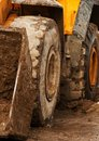 Bulldozer deep in mud Royalty Free Stock Photography