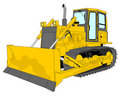 Bulldozer illustration Royalty Free Stock Image