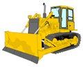 Bulldozer illustration Royalty Free Stock Photo