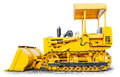 Bulldozer isolated the heavy on white background Royalty Free Stock Image