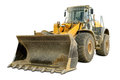 Bulldozer isolated on white Royalty Free Stock Photo