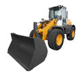 Bulldozer isolated on white background Royalty Free Stock Photo