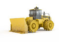Bulldozer isolated on white background Royalty Free Stock Photos