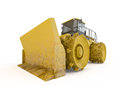 Bulldozer isolated on white background Stock Photos