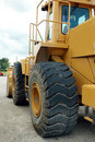 Bulldozer from rear Stock Photo