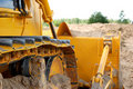Bulldozer track in action Royalty Free Stock Images