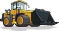 Bulldozer a vector image of an isolated cement mixer truck available as a vector in eps format that can be scaled to any size Royalty Free Stock Images