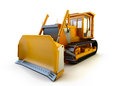 Bulldozer  on white Royalty Free Stock Images