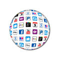 Bulle neuve de transmission d'Apps Photos stock