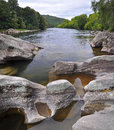 Buller River Vertical Panorama, New Zealand Stock Image