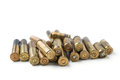 Bullet casings isolated on white background Stock Images