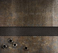 Bullet holes in metal background Royalty Free Stock Photo