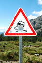 Bullet holes on road sign, Corsica Royalty Free Stock Photos