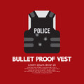 Bullet proof vest vector illustration Royalty Free Stock Image