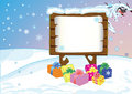 Bulletin board about New Year's gifts, prizes Royalty Free Stock Images