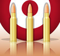 Bullets and target Stock Images