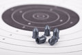 Bullets on the target Royalty Free Stock Photo