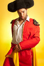 Bullfighter courage humor spanish colors Royalty Free Stock Photos