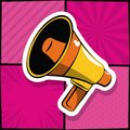 Bullhorn pop art Royalty Free Stock Photo