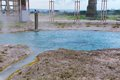 Bullicame thermal spring near viterbo italy already known by dante alighieri Royalty Free Stock Images