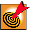 Bulls eye bullseye success Royalty Free Stock Image