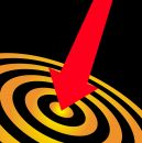 Bulls eye bullseye success Royalty Free Stock Photos