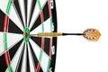 Bulls eye target with dart Royalty Free Stock Photo