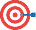 Bullseye with dart. Center Royalty Free Stock Photo