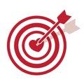 Bullseye heart right into symbol Royalty Free Stock Photography