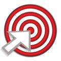 Bullseye success target Royalty Free Stock Photo