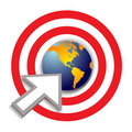 Bullseye target world success Royalty Free Stock Photo